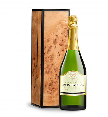 Wine Gift Boxes: Chateau Montmore North Coast Brut Cuvee in Burlwood Box