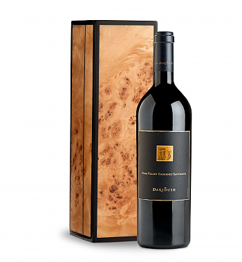 Wine Gift Boxes: Darioush Signature Cabernet Sauvignon 2016 with Handcrafted Burlwood Box