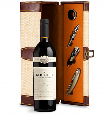Wine Totes & Carriers: Beringer Private Reserve Cabernet Sauvignon 2012 Wine Steward Luxury Caddy