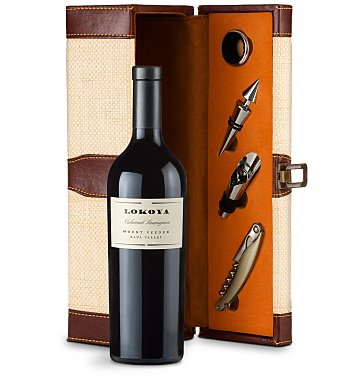 Wine Totes & Carriers: Lokoya Mt. Veeder Cabernet Sauvignon 2013 Wine Steward Luxury Caddy