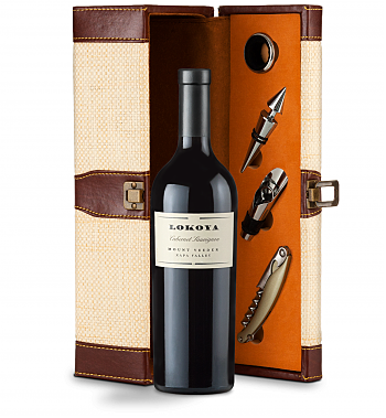Wine Totes & Carriers: Lokoya Mt. Veeder Cabernet Sauvignon 2011 Wine Steward Luxury Caddy