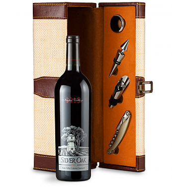 Wine Totes & Carriers: Silver Oak Napa Valley 2015 Cabernet Sauvignon Wine Steward Luxury Caddy