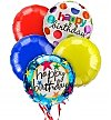 Balloons: Birthday Balloon Bouquet-5 Mylar