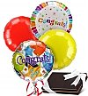 Balloons & Chocolate: Congratulations Balloons & Chocolates-4 Mylar