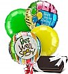 Balloons & Chocolate: Get Well Balloons & Chocolates-4 Mylar