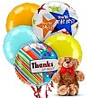 Balloons & Bear: Thank You Balloons & Bear-5 Mylar