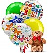 Balloons & Bear: Friendship Day Balloons & Bear-5 Mylar