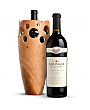 Premium Wine Baskets: Handmade Wooden Wine Vase with Beringer Private Reserve Cabernet Sauvignon 2010