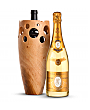 Wine Accessories & Decanters: Louis Roederer Cristal Brut 2009 with Handmade Wooden Wine Vase