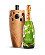 Wine Accessories & Decanters: Perrier Jouet Fleur Belle Epoque 2011 with Handmade Wooden Wine Vase