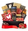 Chocolate & Sweet Baskets: Heart's Delight Gourmet Gift Basket