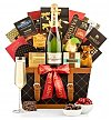 Champagne Gift Baskets: Happy Holidays Champagne Basket