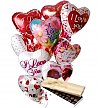 Balloons & Chocolate: Valentine's Day Balloons & Chocolate-12 Mylar