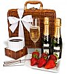 Champagne Gift Baskets: Champagne & Fondue Birthday Set