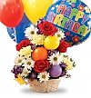 Flower Bouquets: Birthday Cheer Basket