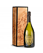 Wine Gift Boxes: Dom Perignon 2008 with Handcrafted Burlwood Box