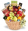 Food & Fruit Baskets: Elegant Offering Remembrance Gift Basket