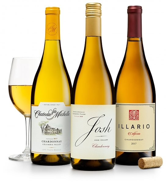 Wine Gift Boxes: California & Washington Chardonnays: Josh Cellars, Illario & Chateau Ste. Michelle