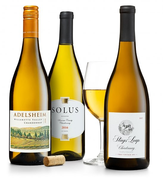 Wine Gift Boxes: California & Oregon Chardonnays: Stags' Leap, Solus and Adelsheim