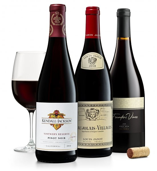 Wine Gift Boxes: Red Wine Trio: Pinot Noir & French Gamay