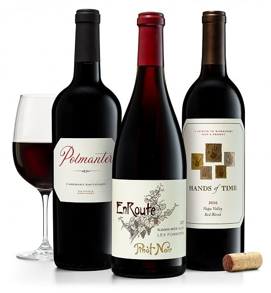 Wine Gift Boxes: California Red Wine Trio: Pinot Noir, Cabernet & Red Blend