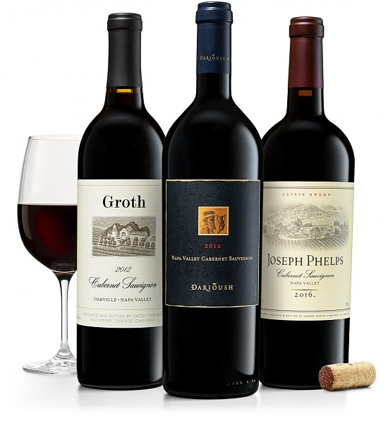 Wine Gift Boxes: Napa Valley Cabernet Trio: Groth, Darioush & Joseph Phelps