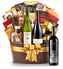 Premium Wine Baskets: The Hamptons Luxury Wine Basket-Silver Oak Napa Valley Cabernet Sauvignon 2010
