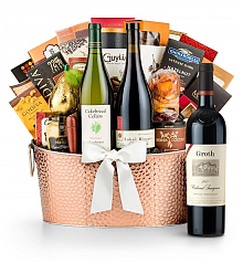 Premium Wine Baskets: The Hamptons Luxury Wine Basket - Groth Reserve Cabernet Sauvignon 2012