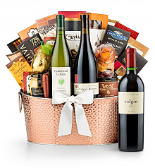 Premium Wine Baskets: The Hamptons Luxury Wine Basket-Colgin Cariad Red Blend 2011