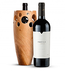 Premium Wine Baskets: Handmade Wooden Wine Vase with Merryvale Profile 2010
