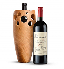 Wine Accessories & Decanters: Dominus Estate 2012 with Handmade Wooden Wine Vase