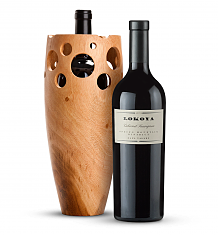 Wine Accessories & Decanters: Lokoya Spring Mountain Cabernet Sauvignon 2009 with Handmade Wooden Wine Vase