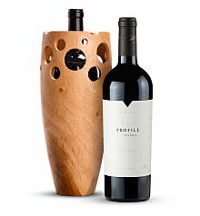 Wine Accessories & Decanters: Merryvale Profile 2012 with Handmade Wooden Wine Vase