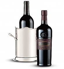 Wine Totes & Carriers: Double Handled Luxury Wine Holder with Joseph Phelps Insignia Red 2009