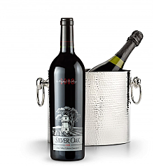 Wine Totes & Carriers: Luxury Wine Chiller with Silver Oak Napa Valley Cabernet Sauvignon 2008