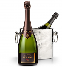 Wine Accessories & Decanters: Krug Vintage Brut Champagne 2000 with Luxury Wine Chiller