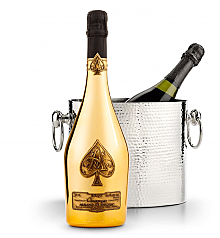 Wine Totes & Carriers: Luxury Wine Chiller with Armand de Brignac Brut Gold (Ace of Spades)