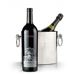 Wine Totes & Carriers: Luxury Wine Chiller with Silver Oak Napa Valley Cabernet Sauvignon 2011