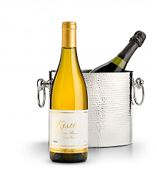 Wine Accessories & Decanters: Kistler Vineyards Dutton Ranch Chardonnay Sonoma Coast 2014 with Luxury Wine Chiller