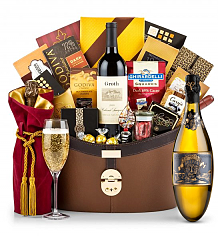 Champagne Baskets: Kripta Brut Nature Cava Gran Reserva 2007 Windsor Luxury Gift Basket