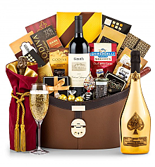 Champagne Baskets: Armand de Brignac Brut Gold (Ace of Spades) Ultimate Champagne Basket