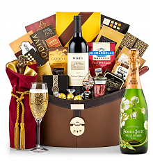 Champagne Baskets: Perrier-Jouet Belle Epoque Windsor Luxury Gift Basket