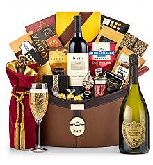 Champagne Baskets: Dom Perignon 2005 Windsor Luxury Gift Basket