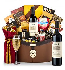 Champagne Baskets: Groth Reserve Cabernet Sauvignon 2012 Windsor Luxury Gift Basket