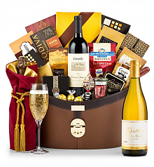 Champagne Baskets: Kistler Vineyards Dutton Ranch Chardonnay Sonoma Coast 2014 Windsor Luxury Gift Basket