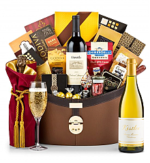 Champagne Baskets: Kistler Vineyard Sonoma Mountain Chardonnay 2014 Windsor Luxury Gift Basket
