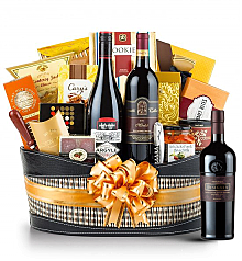 Premium Wine Baskets: Joseph Phelps Insignia Red 2009 Wine Basket- Martha's Vineyard