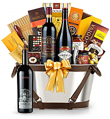 Premium Wine Baskets: Silver Oak Napa Valley Cabernet Sauvignon 2010 - Martha's Vineyard Luxury Wine Basket
