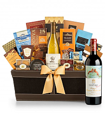 Premium Wine Baskets: Chateau Mouton Rothschild 2012 - Cape Cod Luxury Wine Basket