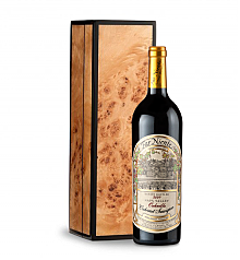 Wine Gift Boxes: Far Niente Cabernet Sauvignon 2009 in Handcrafted Burlwood Box